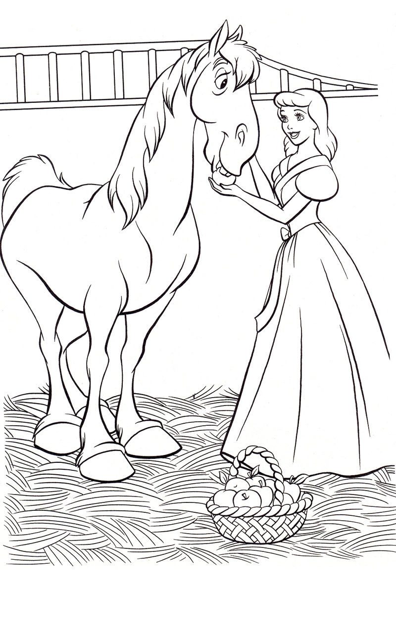 Cinderella And Prince Coloring Pages