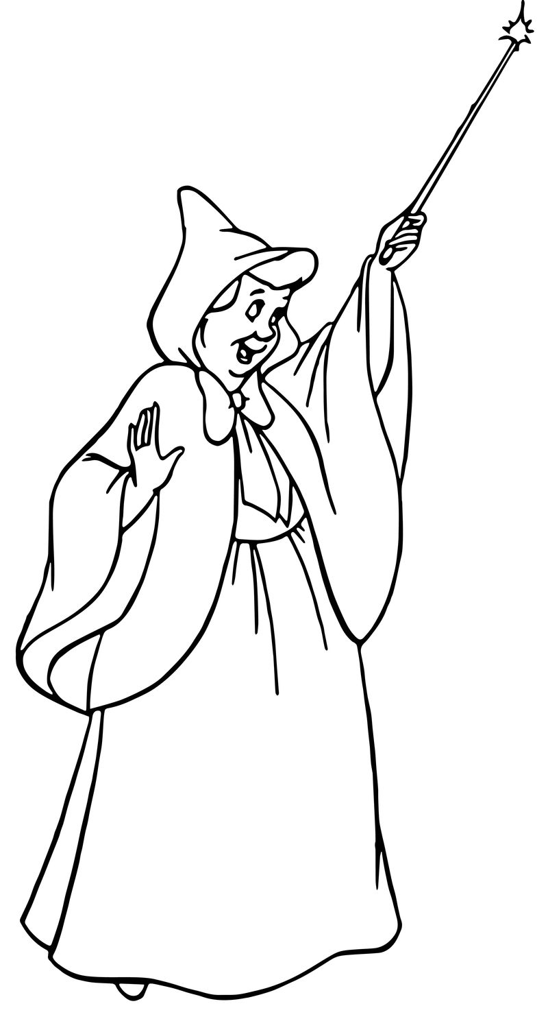 Cinderella fairy godmother coloring pages 25