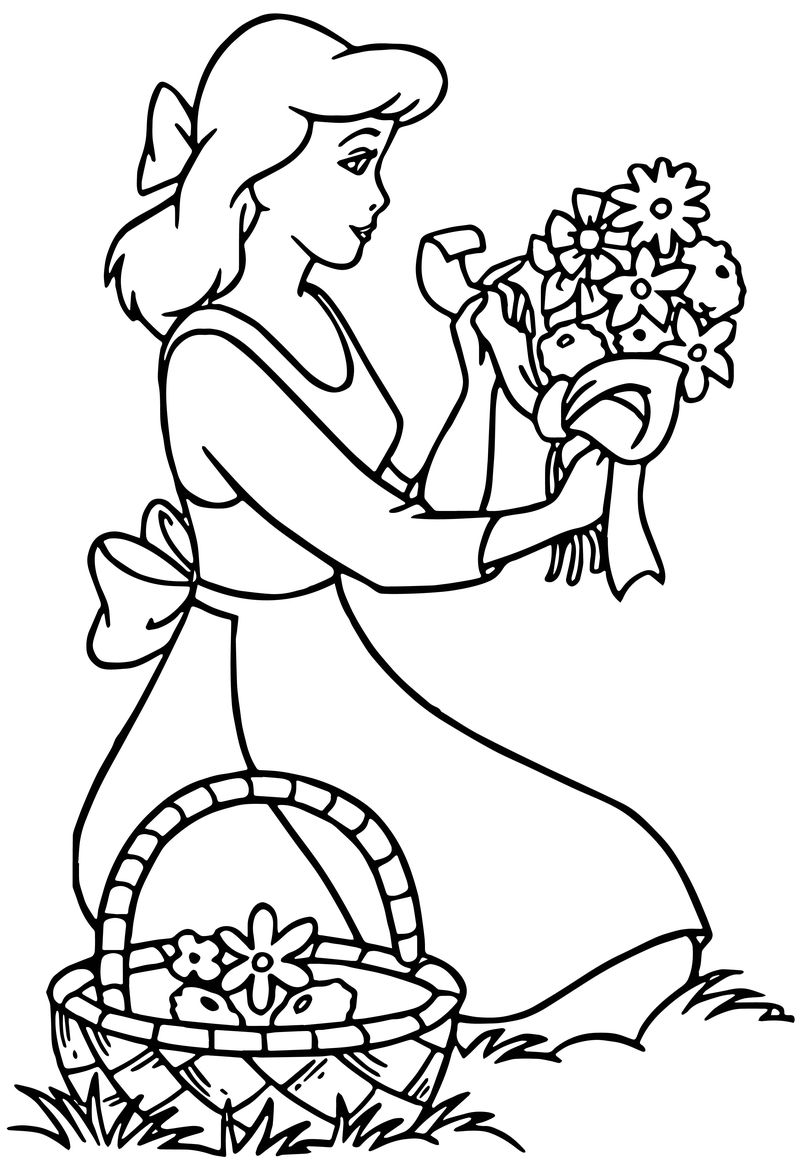 Cinderella Flower Coloring Pages