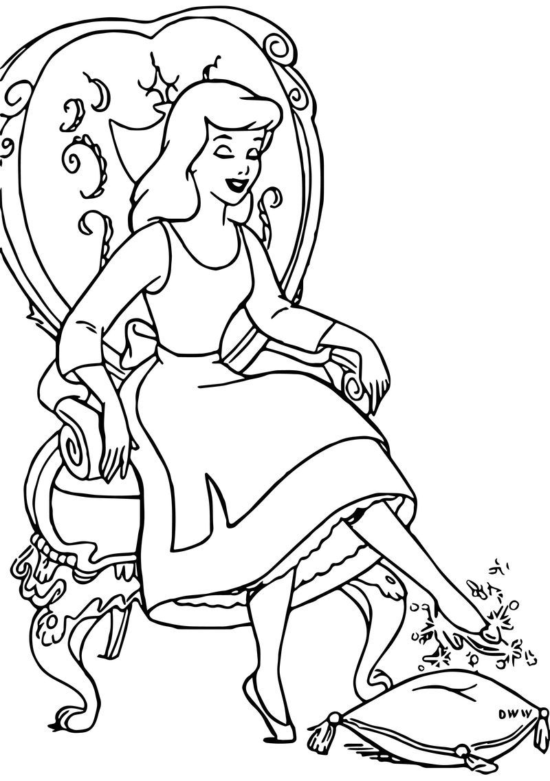 Cinderella Mice And Birds Coloring Pages 06