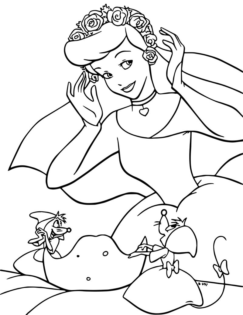 Cinderella Mice And Birds Coloring Pages 07