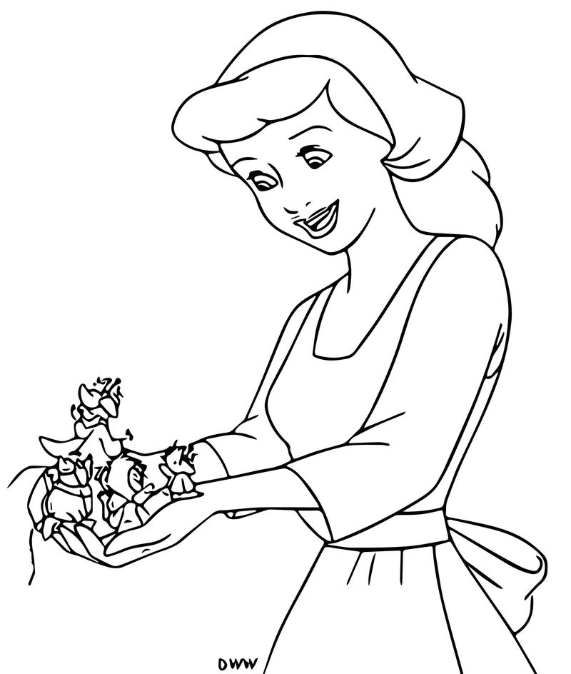 Cinderella Mice And Birds Coloring Pages 27