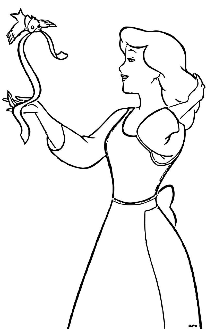 Cinderella mice and birds coloring pages 29
