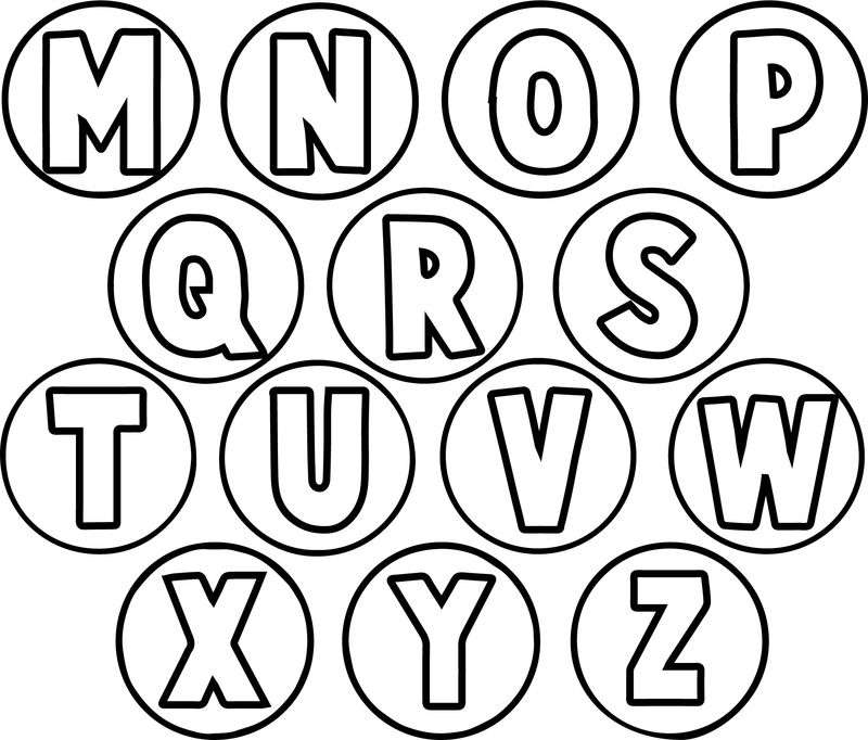 Circle Alphabet Letter Coloring Page