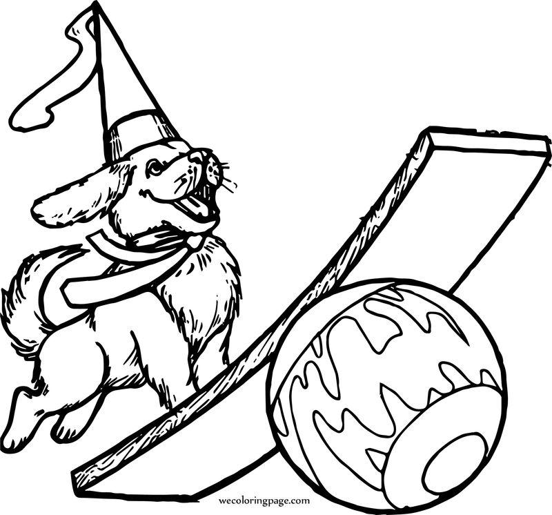 Circus Dog Coloring Page