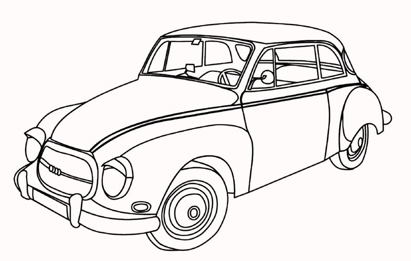 Classic And Antique Car Coloring Pages