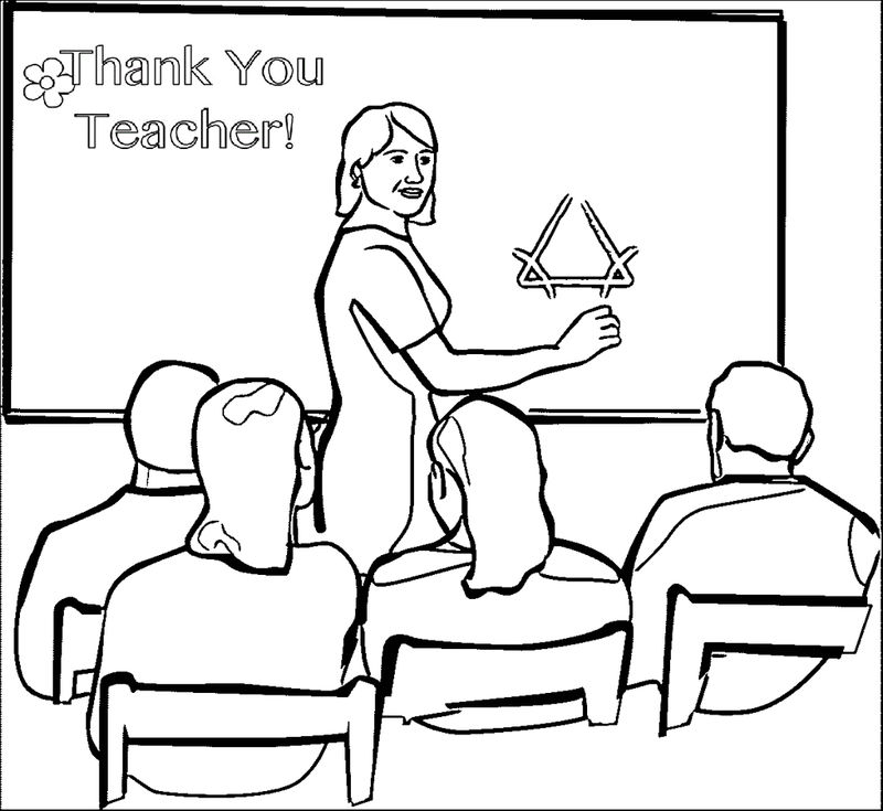 Classroom Teacher Coloring Page