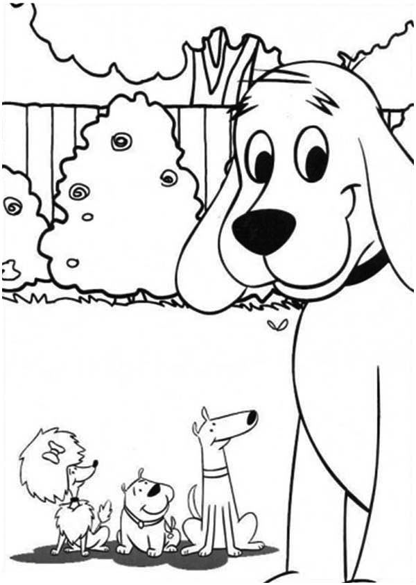 Clifford And Friends Dog Coloring Pages