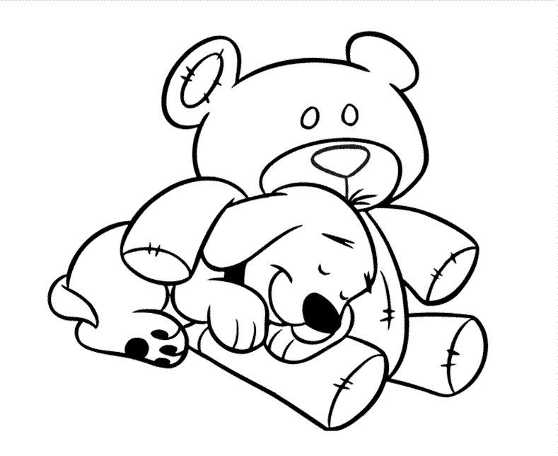 Cliffords Teddy Dog Coloring Pages