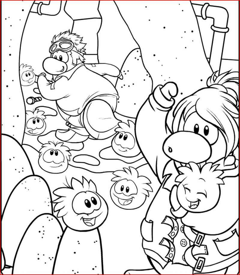 Club Penguin Puffles Coloring Pages