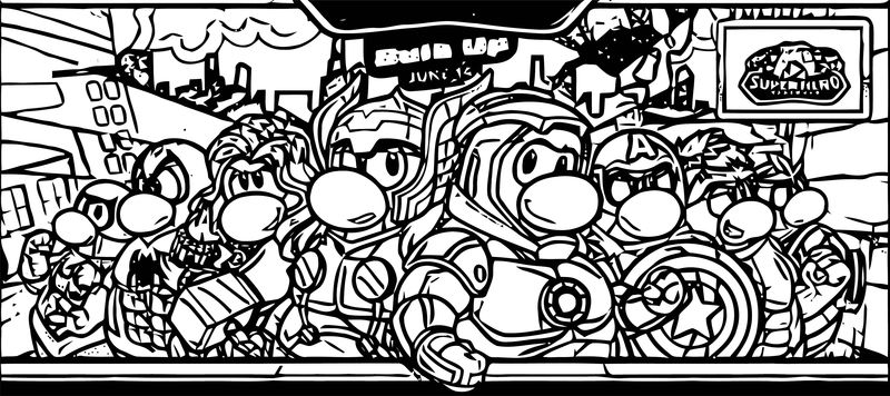 Club Penguin Marvel Coloring Page