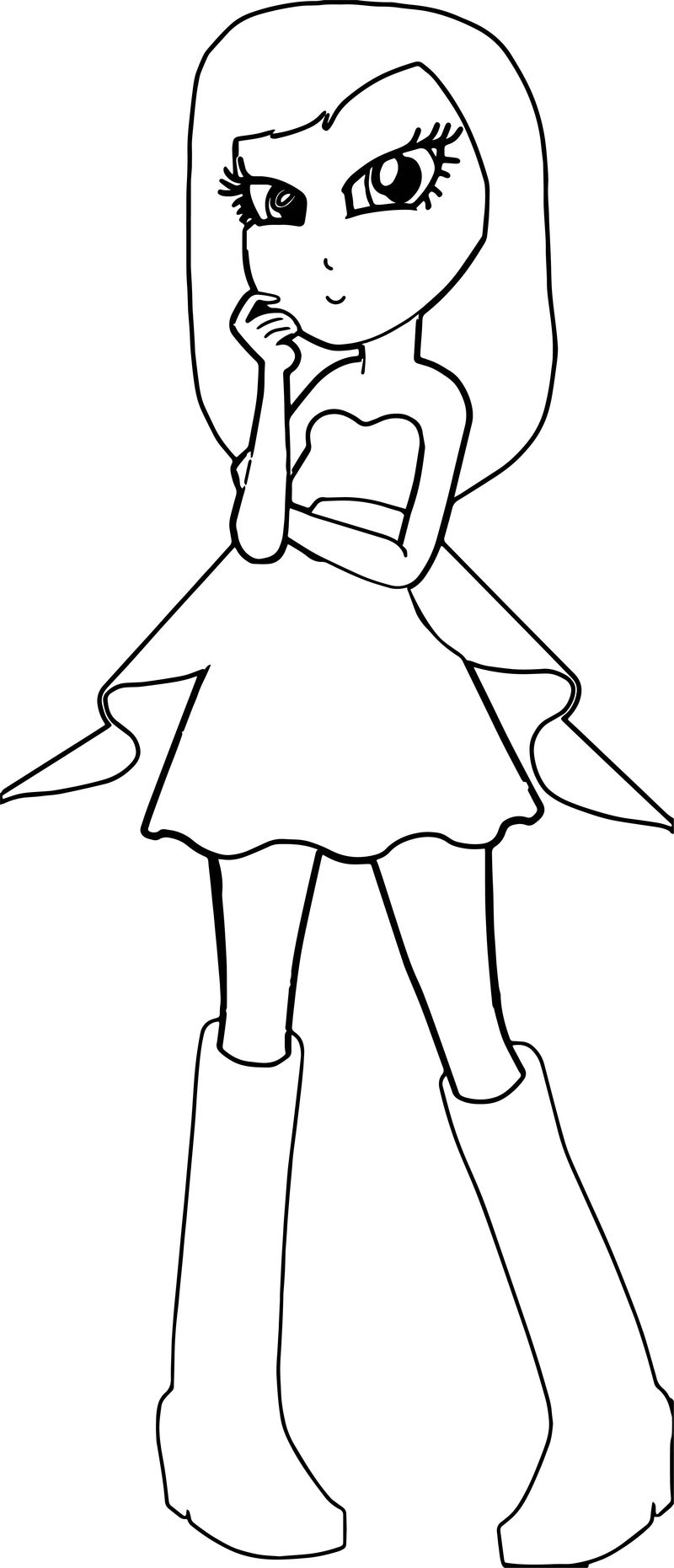 Coco As Tori From Barbie Princess And The Pop Star Coloring Page