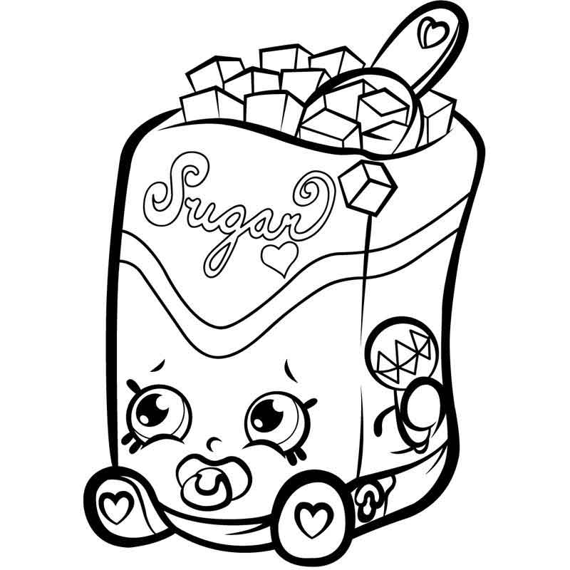 Color Free Shopkins Coloring Page