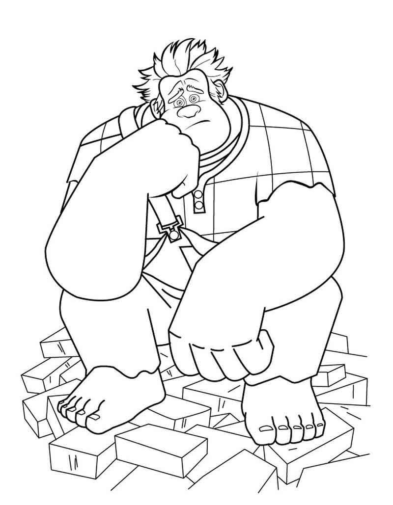 Color Wreck It Ralph Coloring Pictures