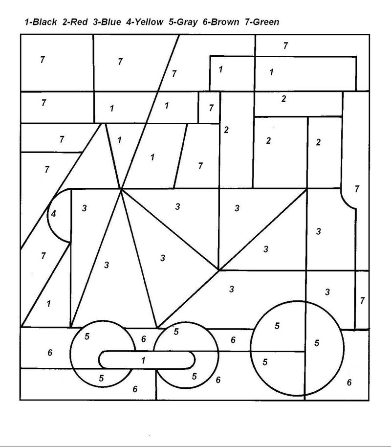 Color By Number Hidden Picture Simple Free Coloring Pages