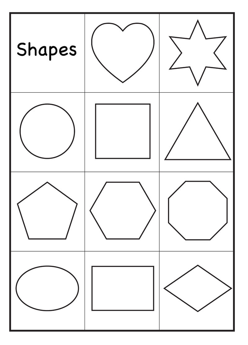 Color By Shape Worksheet2