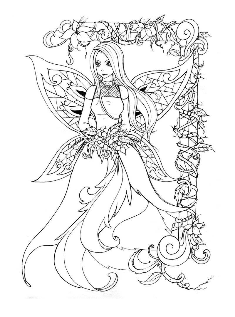 Color Fairy Printable