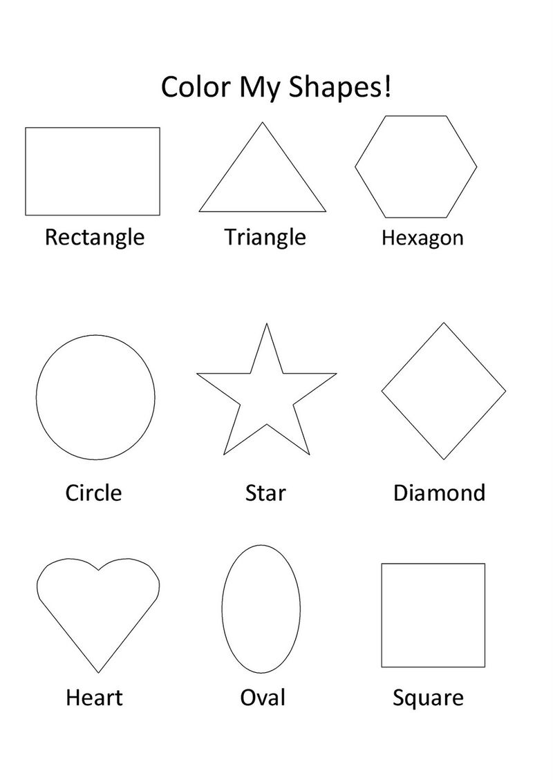 Color The Shapes Worksheet Learning