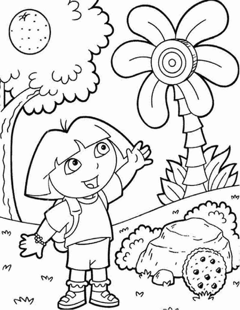 Coloring Pages For Dora The Explorer