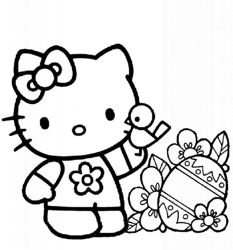 Coloring Pages For Hello Kitty