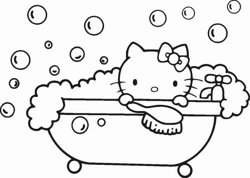 Coloring Pages For Kids Hello Kitty