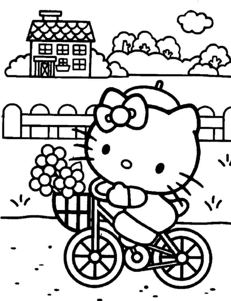 Coloring Pages Hello Kitty Print