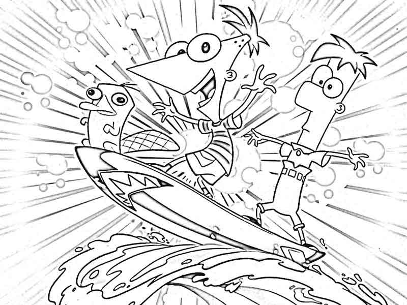 Coloring Pages Phineas And Ferb