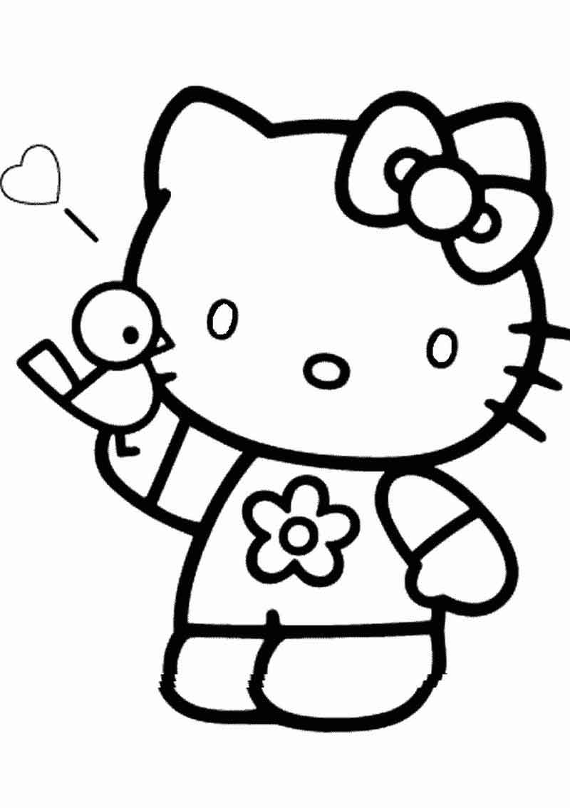 Coloring Pages To Print Hello Kitty
