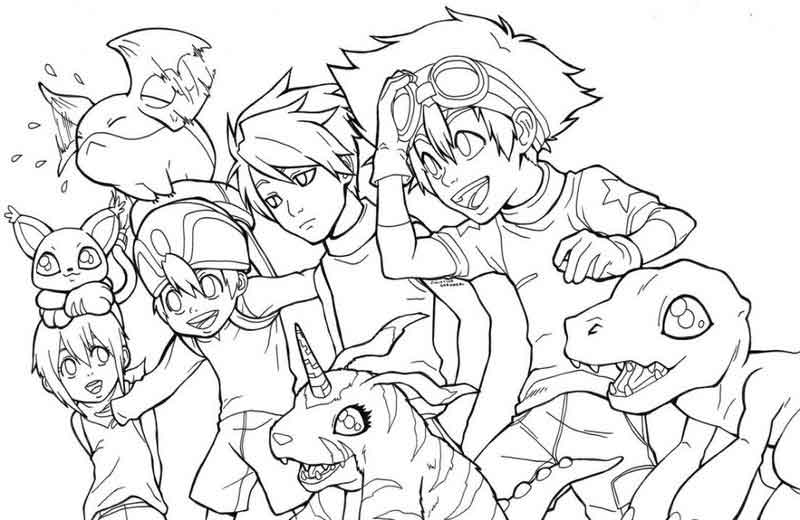 Coloring Pages Of Digimon