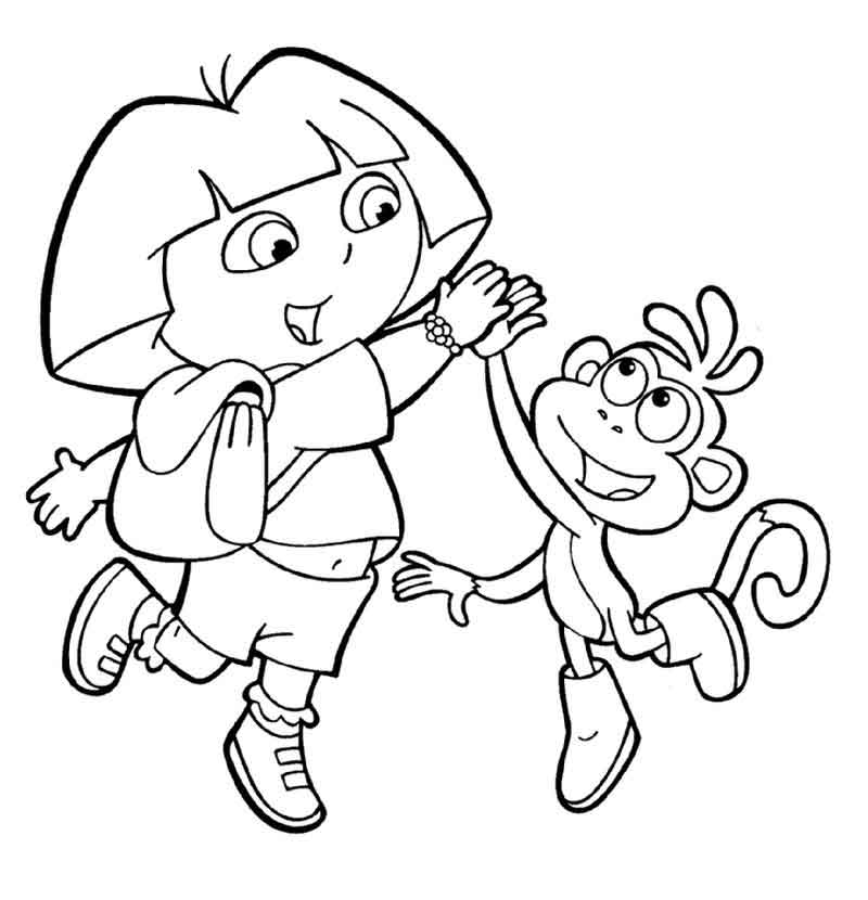 Coloring Pages Of Dora The Explorer