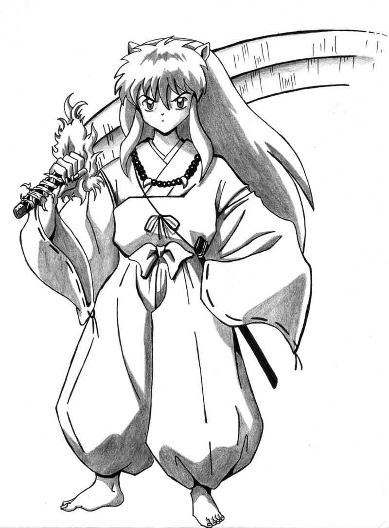 Coloring Pages Of Inuyasha