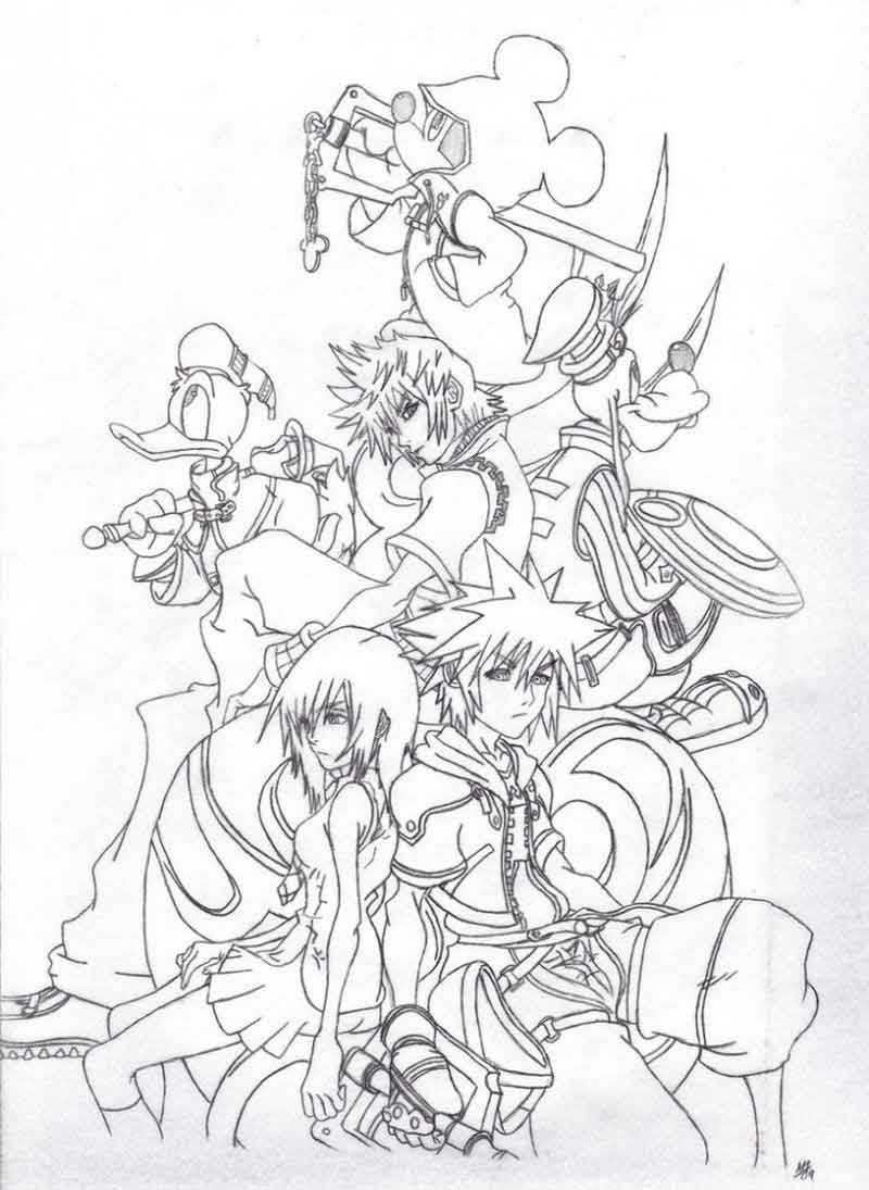Coloring Pages Of Kingdom Hearts