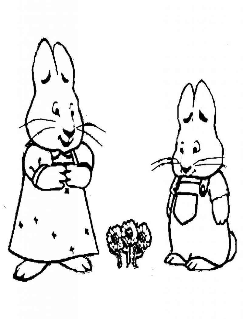 Coloring Pages Of Max And Ruby