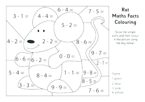 Coloring Addition Worksheets Free 1