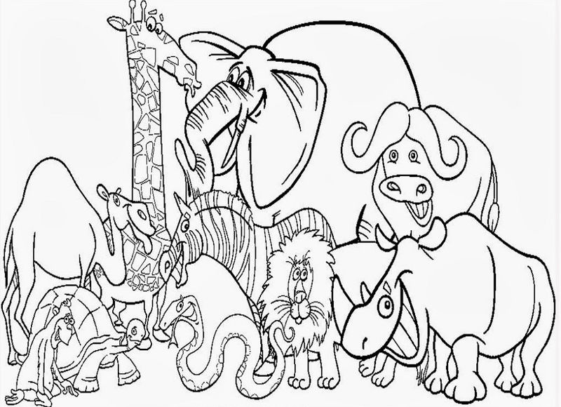 Coloring Book Animals Zoo Animals 001 | FREE COLORING PAGES