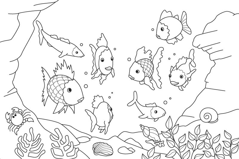 Coloring For Toddlers Printable Fish