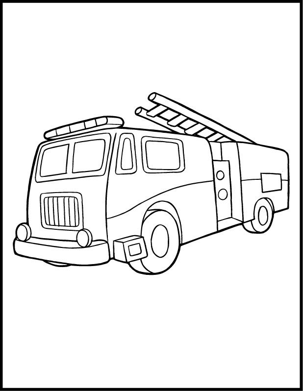 Coloring Pages Fire Truck 001