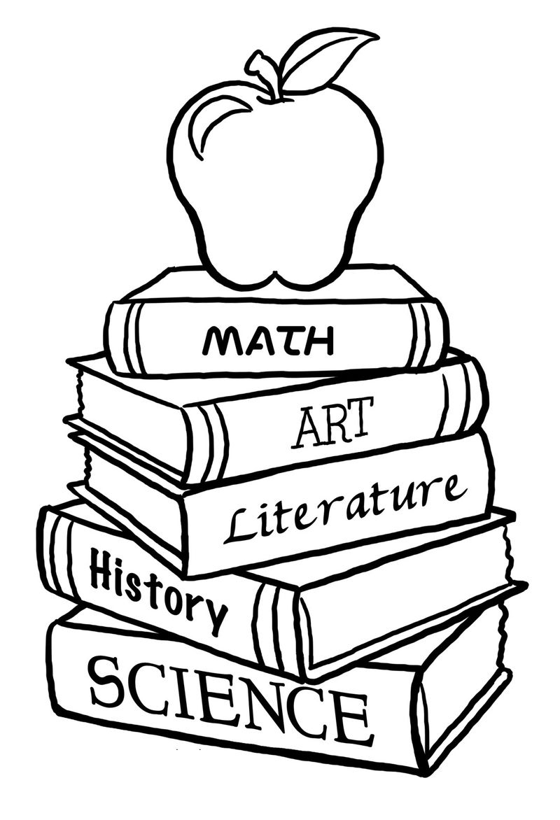 Coloring Pages For Elementary School Kids Schoolbooks 001