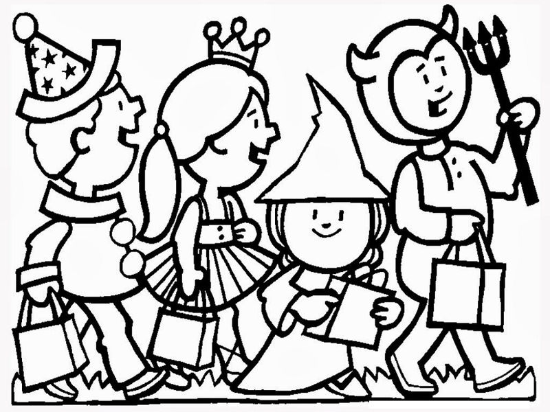Coloring pages halloween party 001