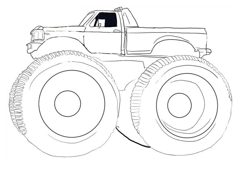Coloring Pages Monster Truck