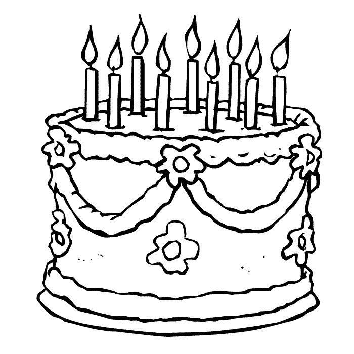 Coloring Pages Of Birthday Cakes 001