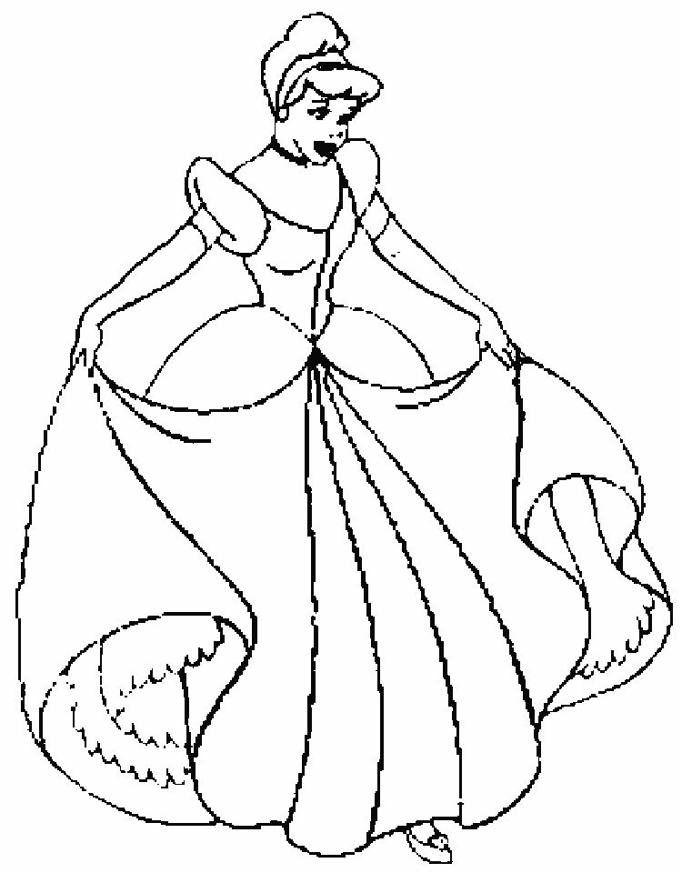Coloring pages of disney princess