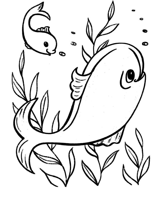 Coloring Pages Of Fish In The Ocean 001