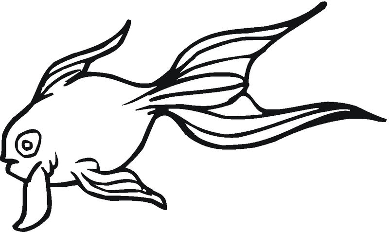 Coloring Pages Of Goldfish