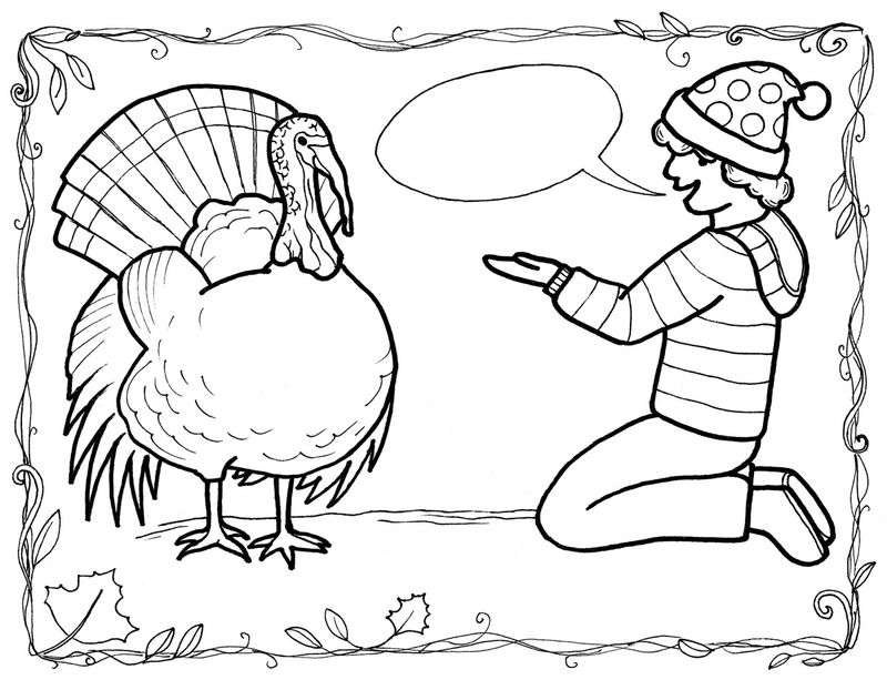 Coloring Pages Of Turkeys For Thanksgiving