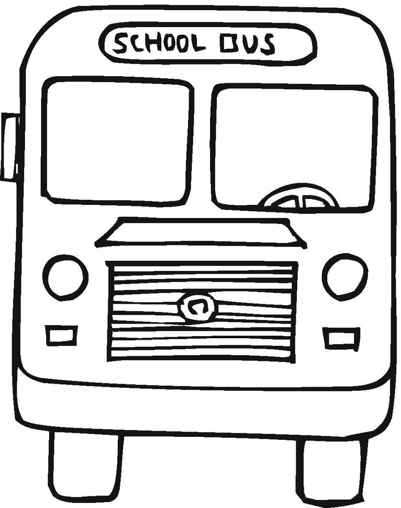Coloring Pages School Bus 001