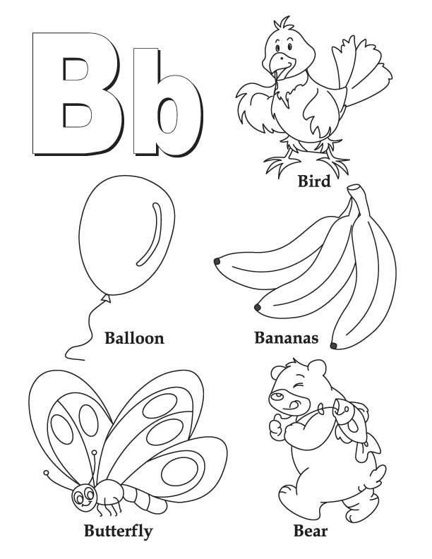 Coloring Worksheets Letter B