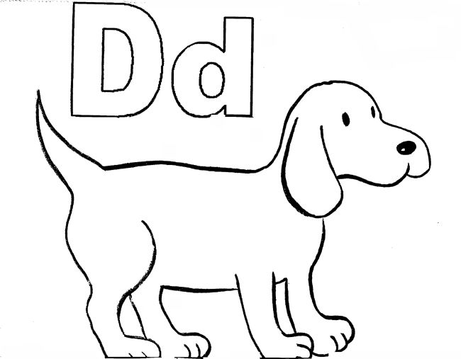 Coloring Worksheets Letter D