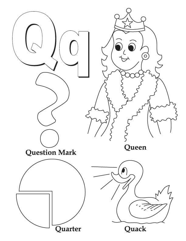 Coloring Worksheets Letter Q