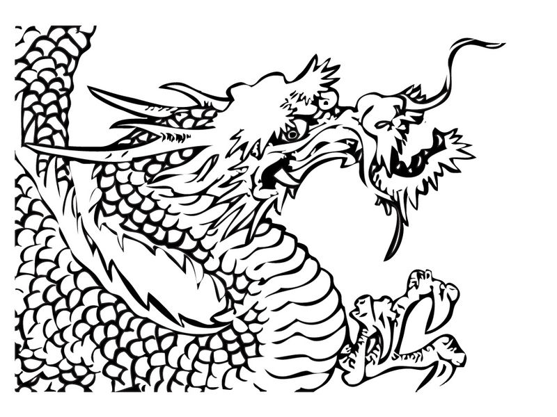 Colring Pages Of Chinese Dragon 001